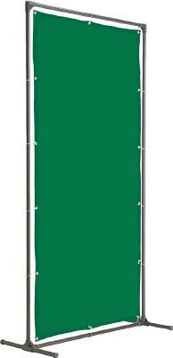 TRUSCO 溶接遮光フェンス 2020型単体固定足 深緑【YFAK-DG】(溶接用品・溶接遮光フェンス)