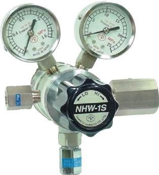分析機用フィン付二段圧力調整器 NHW-1S NHW1STRCCO2