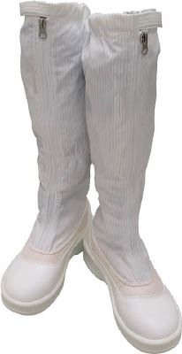 ゴールドウイン 静電安全靴ファスナー付ロングブーツ ホワイト 27.0cm PA9850W27.0