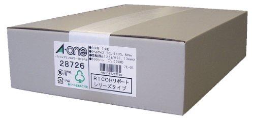 エーワン パソコンプリンタ&ワープロ ラベル シール マット紙 14面 500シート 28726 (1箱)