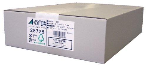 エーワン パソコンプリンタ&ワープロ ラベル シール マット紙 18面 500シート 28728 (1箱)