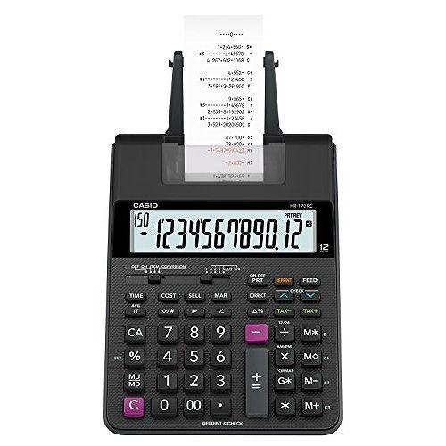 カシオ プリンター電卓 デスクタイプ 12桁 HR-170RC-BK