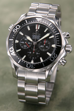 オメガ OMEGA 腕時計 シーマスター300 クロノグラフ ブラック 2594-52【送料無料】