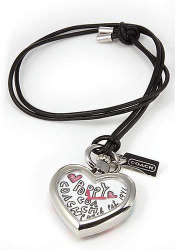 コーチ COACH レディス 腕時計 Poppy Heart(ポピー ハート) ハート型の可愛いイラストのペンダントウオッチ 14501227
