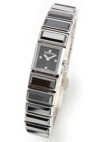 スワロフスキー Swarovski レディス 腕時計 Baguette(バゲット)・ジュエリーウォッチ スワロフスキー Swarovski・ジェットヘマタイト・クリスタル・キラキラ・ブレスウオッチ 999985【送料無料】