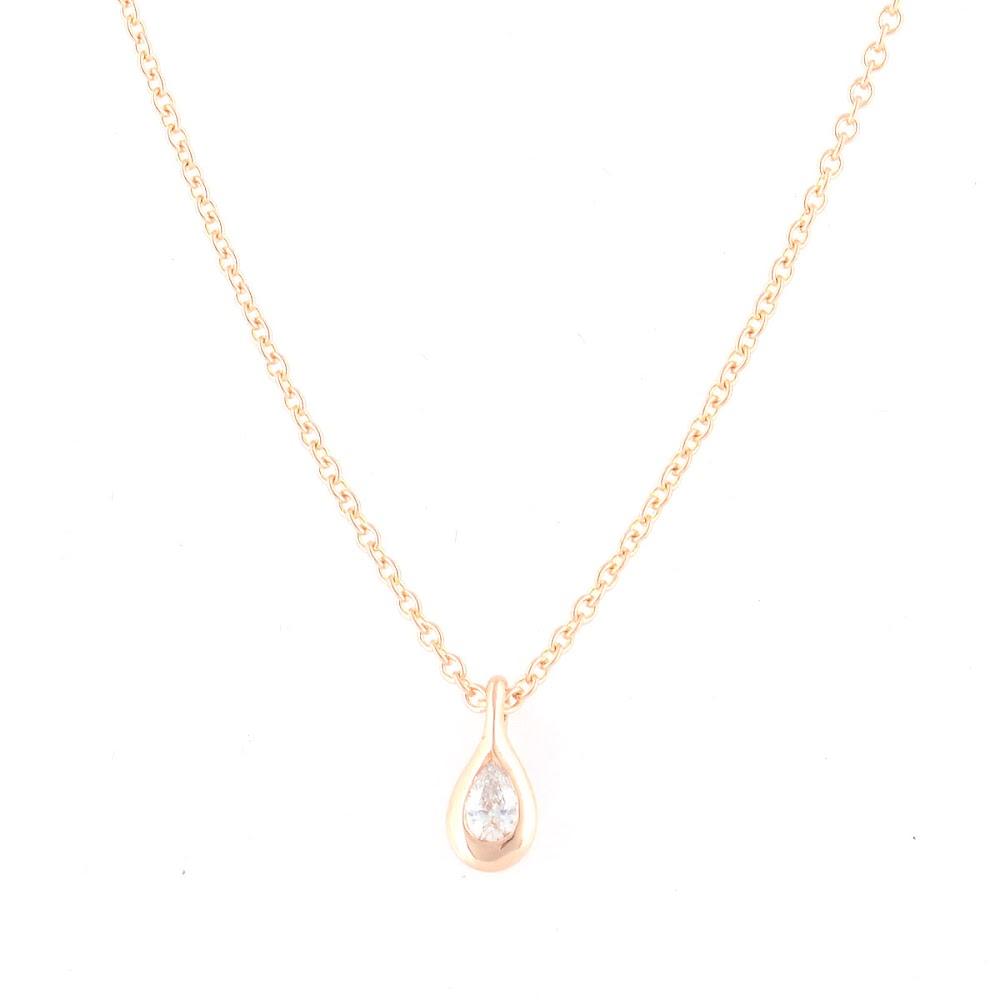 【驚きの値段】 ティファニー Tiffany&CO 33400055 エルサ・ペレッティ ダイヤモンド バイ ザ ヤード ペンダント ペアシェイプ 0.07ct 16in 18KRG ネックレス【送料無料】, メナシグン da1f8846