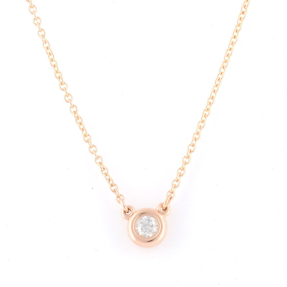 注目の ティファニー Tiffany&CO 31895928 エルサ・ペレッティ ダイヤモンド バイ ザ ヤード ペンダント 0.10ct 16in 18KRG ネックレス【送料無料】, maRe maRe online store 26485103