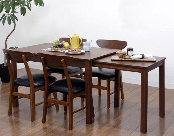 ダイニングテーブル 5点セット ダイニングセット 5点 シオンダエン 120~200cm幅/4人掛け用 木製(代引不可)【送料無料】