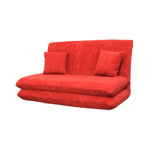 日本製 ソファベッド ソファーベッド セミダブル 2人掛け 2人掛けソファ リクライニング ファーベッド クッション2個付き チロル(代引不可)【送料無料】