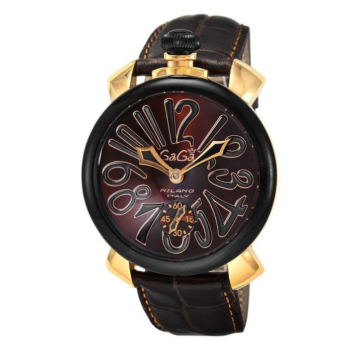 GaGaMILAN ガガミラノ 5014.02S-BRW ブランド 時計 腕時計 メンズ 誕生日 プレゼント ギフト カップル 代引不可 送料無料 年始 年末 結婚内祝 返品保証