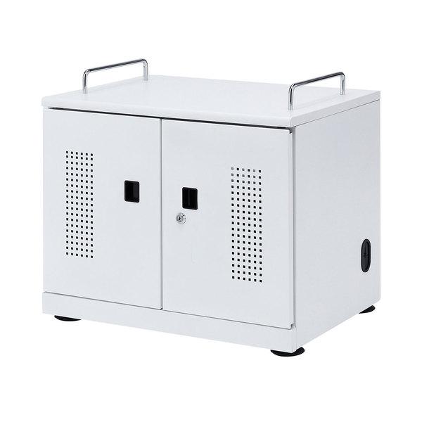 サンワサプライ タブレット収納キャビネット(20台収納) CAI-CAB103W【送料無料】 (代引不可)