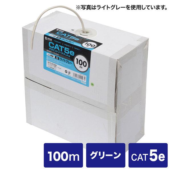 サンワサプライ カテゴリ5eUTP単線ケーブルのみ KB-T5-CB100GN【送料無料】 (代引不可)