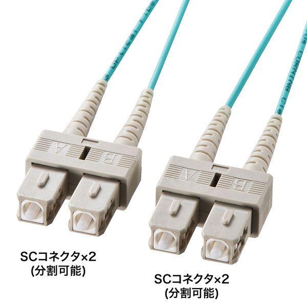 サンワサプライ OM3光ファイバケーブル HKB-OM3SCSC-10L(代引不可)【送料無料】