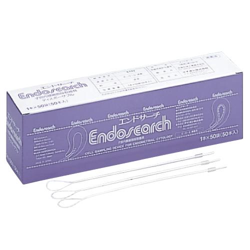松浪硝子工業 エンドサーチ(子宮内膜用細胞採取器具) 入数:1本×50袋【送料無料】