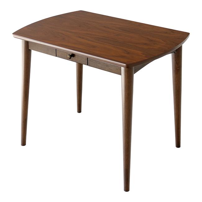 ダイニングテーブル Rosie ロージー テーブル 木製テーブル ウォールナット おしゃれ 木目 食卓 引き出し付き 食卓 北欧(代引不可)【送料無料】