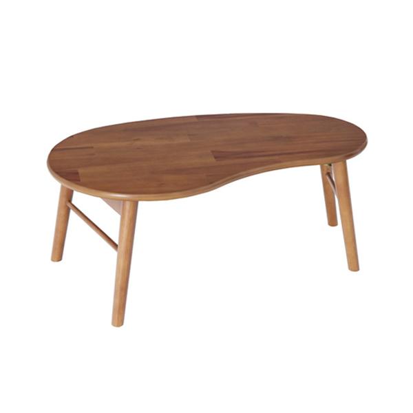 折れ脚テーブル(豆型) センターテーブル リビングテーブル 折りたたみ シンプル コンパクト(代引不可)【送料無料】