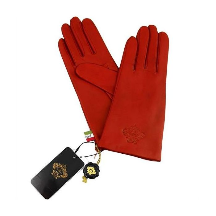 OROBIANCO オロビアンコ レディース手袋 ORL-1582 Leather glove 羊革 ウール RED 7(20cm) 手袋 ギフト プレゼント クリスマス【送料無料】