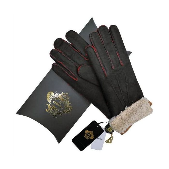 OROBIANCO オロビアンコ メンズ手袋 ORM-1410 Leather glove 羊革 BLACK CAMEL サイズ:8.5(24cm) ギフト プレゼント クリスマス【送料無料】
