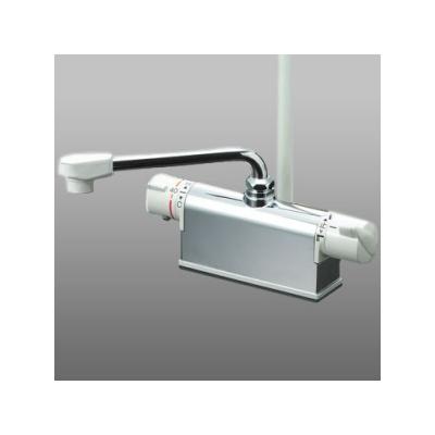 流行に  取付ピッチ100mmタイプ KVK(ケーブイケー) デッキ形サーモスタット式シャワー (KF771Z):リコメン堂生活館 (KF771ベーシックシリーズ) 寒冷地用-木材・建築資材・設備