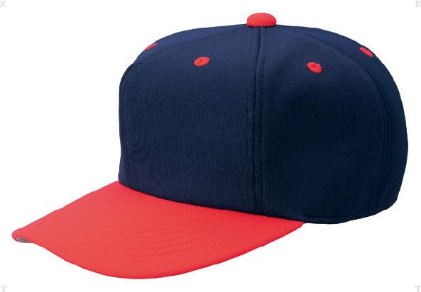 ZETT ゼット オールニットベースボールキャップ 六方 贈答 BH121 野球 ベースボール カラー ネイビー×レッド 2964 55~56cm 卓抜 サイズ オールニットキャップ ネイビー M