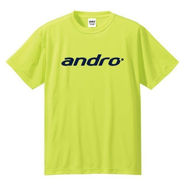 andro(アンドロ) 卓球ゲームシャツ NAPA T-SHIRTS 3(ナパTシャツ3 イエロー×インクブルー) 302058 【サイズ】XS:リコメン堂生活館