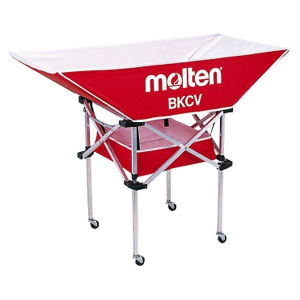 モルテン(Molten) 折りたたみ式平型軽量ボールカゴ(背高) 赤 BKCVHR【送料無料】