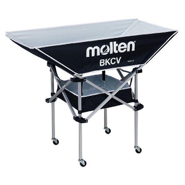モルテン(Molten) 折りたたみ式平型軽量ボールカゴ(背高) 黒 BKCVHBK【送料無料】