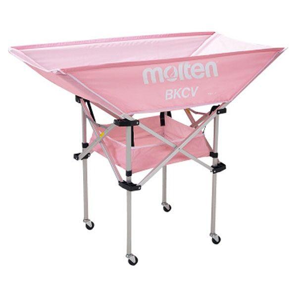 モルテン(Molten) 折りたたみ式平型軽量ボールカゴ(背高) ピンク BKCVHPK【送料無料】