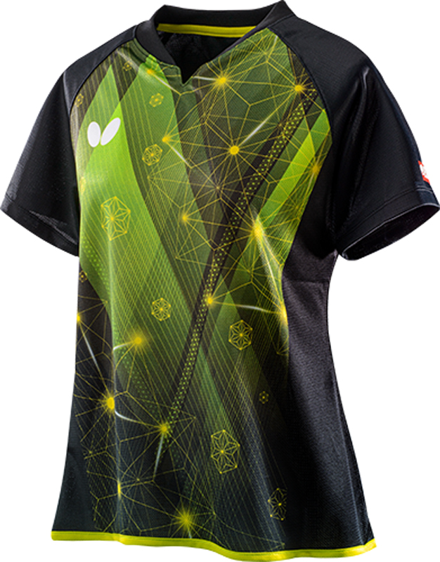 Butterfly 卓球ゲームシャツ ELFIL SHIRT エルフィル・シャツ レディース用 45649 【カラー】イエローグリーン 卓球【送料無料】