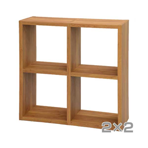 組み合わせオープンラック 収納ラック シェルフ ナチュラル 本棚 テレビボード TV台 AVボード 組みあわせ 2段 二段 2×2(代引不可)【送料無料】