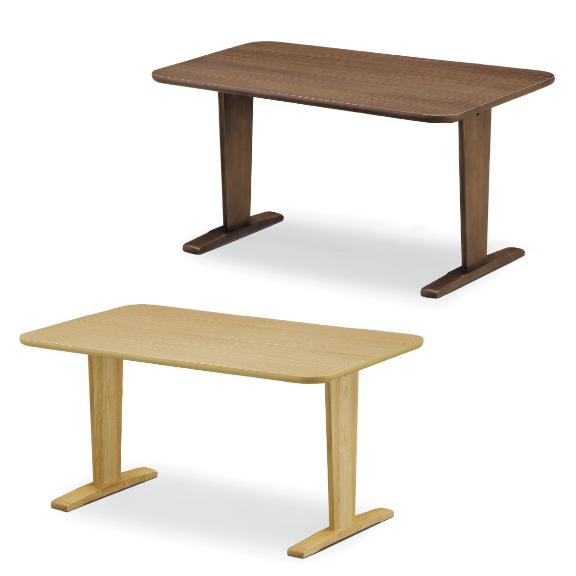 ダイニングテーブル 4人掛け 幅140 奥行80 高さ70cm ウォールナット オーク突板 机 おしゃれ 北欧(代引不可)【送料無料】
