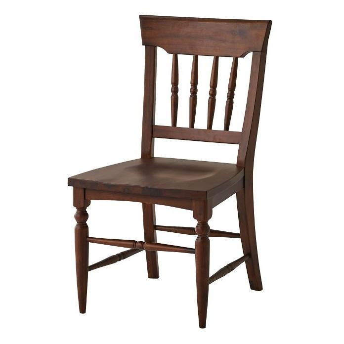 ダイニングチェア 2脚セット 幅46 奥行54 高さ86 アカシア天然木 完成品 椅子 いす おしゃれ 北欧(代引不可)【送料無料】