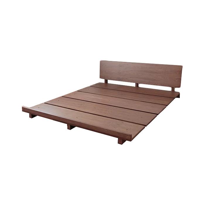 ベッド ダブル フレーム 天然木モダンステージベッド VEGAベガ フレームのみ ダブル(代引不可)【送料無料】