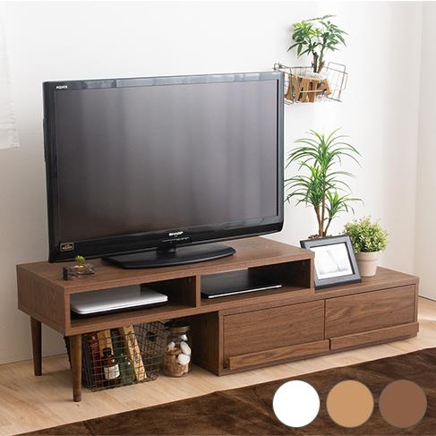 伸縮自在テレビボード 幅100cm~191cm調節可能 TV TV台 テレビ台 TVボード ロータイプ(代引不可)【送料無料】