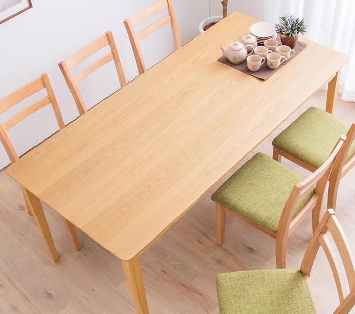 ダイニングテーブル 幅170cm テーブルのみ 単品 木製テーブル ナチュラルダイニング 木目 ダイニングテーブル(代引不可)【送料無料】