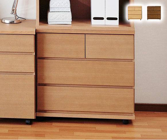 キャスター付きチェスト 幅70cm 3段 大人になっても使える!シンプルなシステム家具シリーズ 木製 子供 収納 タンス たんす(代引不可)【送料無料】【S1】