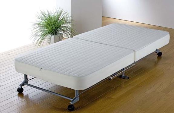 ベッド シングル 折りたたみベッド カバー 洗える コンパクト 収納しやすい 替えカバー式 マットレス 脚付きマットレス(代引不可)