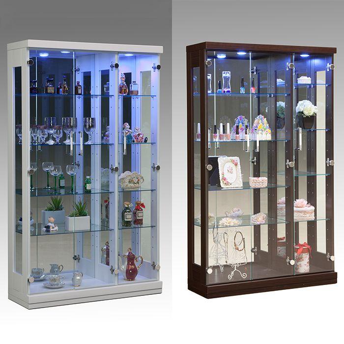 コレクションラック 幅90cm×高さ150cm 【完成品】 コレクションケース コレクションボード 飾り棚 ガラス棚 ショーケース (代引不可)【送料無料】
