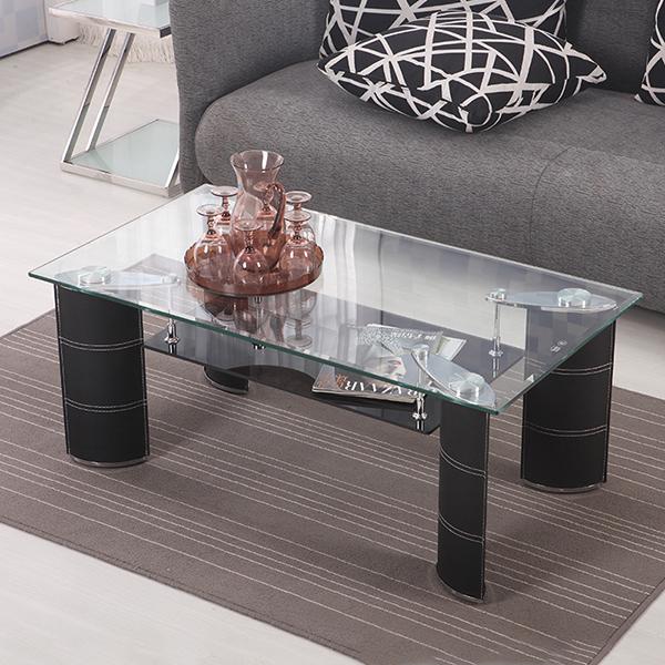 ガラステーブル リビングテーブル センターテーブル ローテーブル 幅120 奥行60 高さ43 強化ガラス 天板8mm 組立 おしゃれ【送料無料】