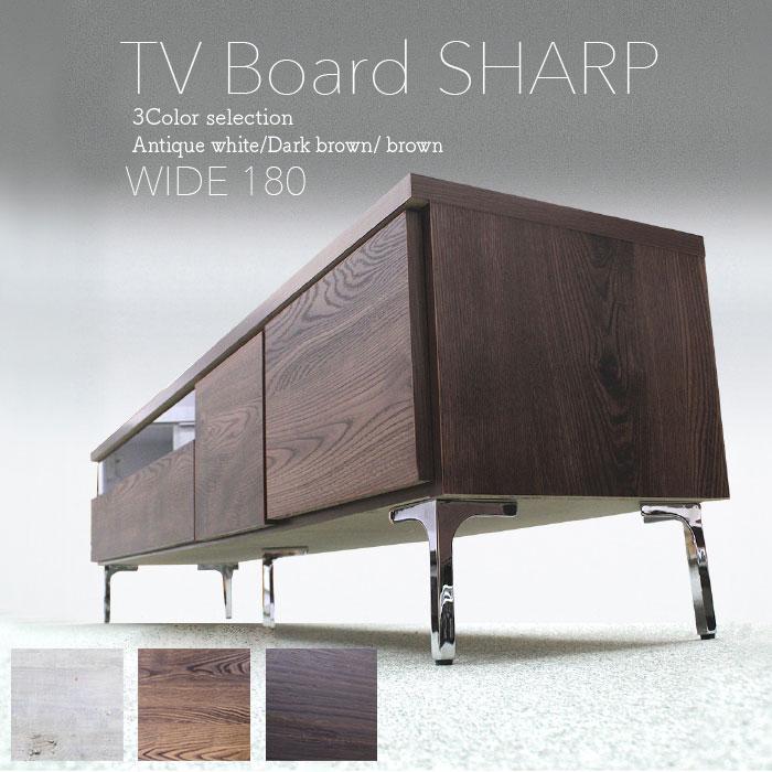 テレビ台 テレビボード 幅180 国産 完成品 木製 ローボード リビング収納 アイアン 日本製 スリムタイプ(代引不可)【送料無料】