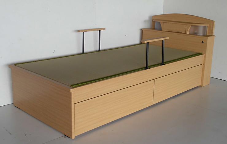 畳ベッド たたみベッド シングル 畳 ベッド 和風 コンセント付き ライト おしゃれ 国産畳使用(代引不可)【組立設置無料】【送料無料】