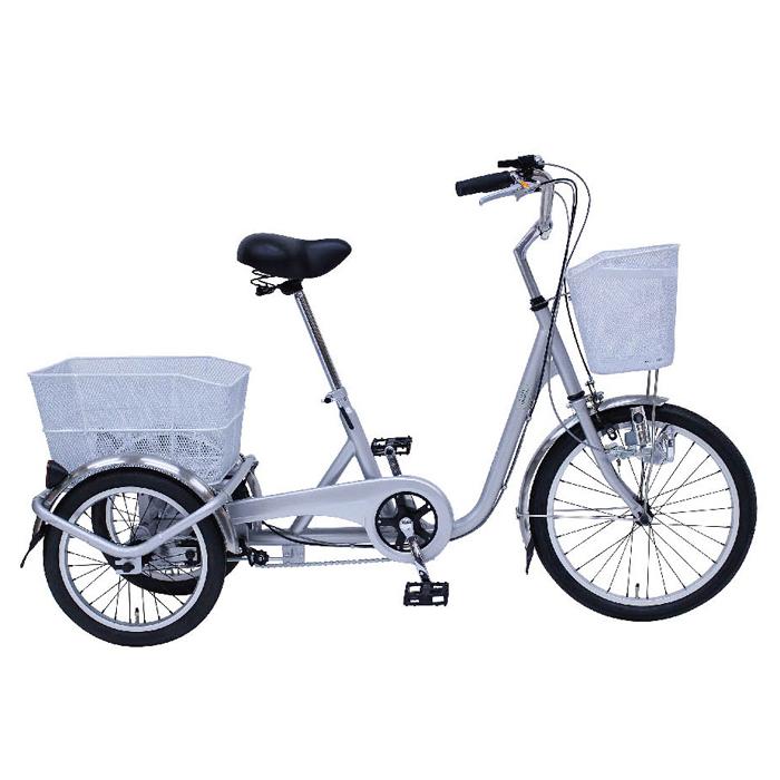 スイングチャーリー 三輪自転車 20インチ MG-TRE20E シルバー ロック・ライト付(代引不可)【送料無料】
