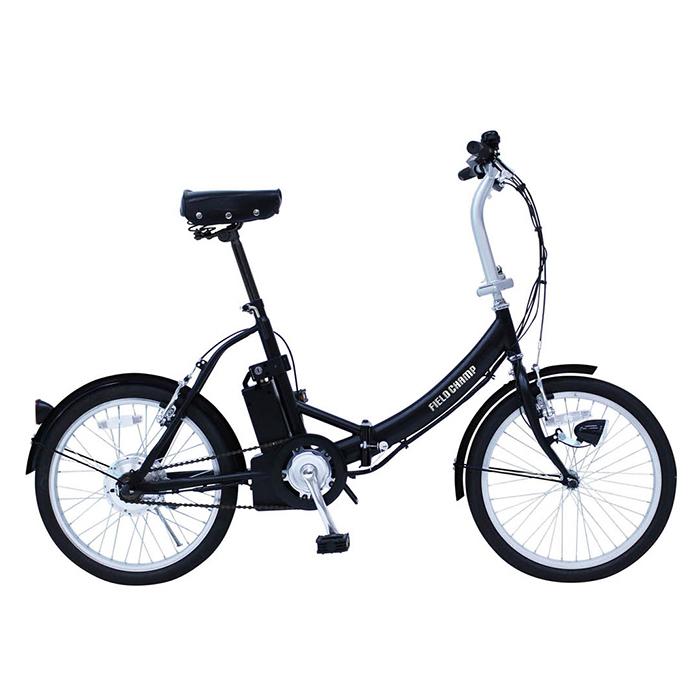 フィールドチャンプ 電動アシスト自転車 折りたたみ 20インチ ノーパンクタイヤ KH-DCY310NE マットブラック(代引不可)【送料無料】