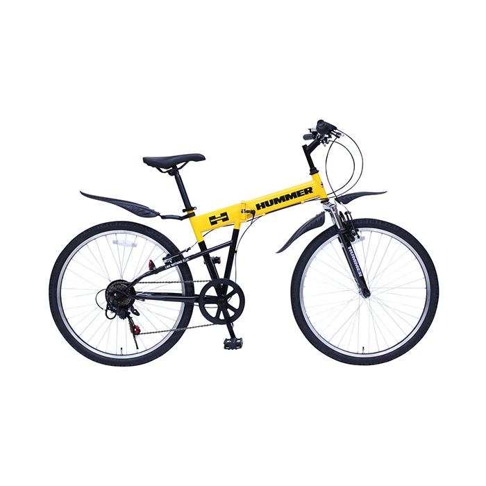 ハマー 折りたたみ自転車 マウンテンバイク 26インチ 6段ギア MG-HM266E イエロー(代引不可)【送料無料】