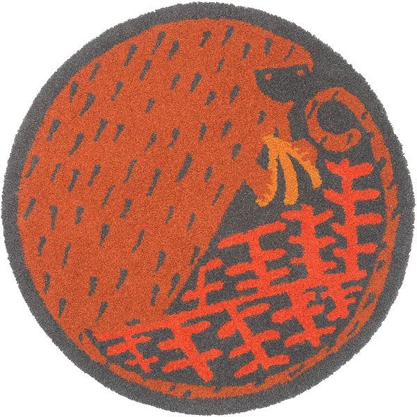 ラグ ラグマット 90X90 Masaru Suzuki バナナマニア カーペット 絨毯 カワイイ オシャレ ホットカーペット対応 スミノエ(代引不可)【送料無料】