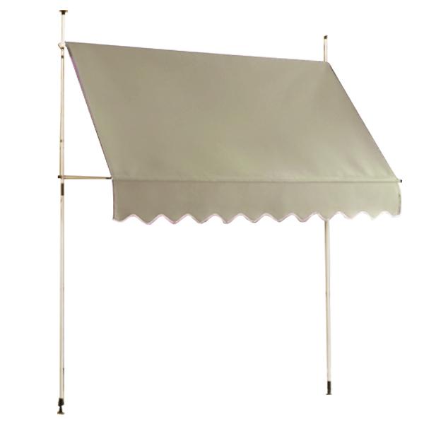 つっぱり オーニングテント 2M 日よけ スクリーン つっぱり式 雨よけ ガーデニング エクステリア(代引不可)【送料無料】