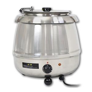 湯煎式スープジャー9L ダイヤル式 保温ジャー ポット ビュッフェ バイキング スープ(代引不可)【送料無料】