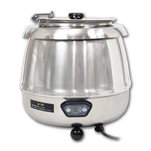 湯煎式スープジャー9L デジタル式 保温ジャー ポット ビュッフェ バイキング スープ(代引不可)【送料無料】【S1】