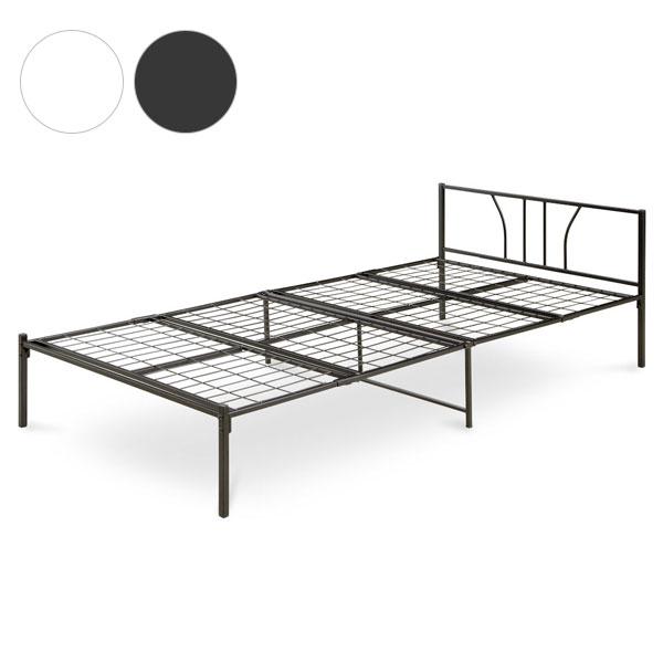 パイプベッド ベッドフレーム スチールシングルベッド シングルサイズ 幅97cm×幅202cm×高さ60cm おしゃれ 一人暮らし 新生活(代引不可)【送料無料】