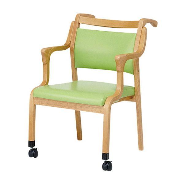 折り畳みチェア コルテーゼ 前方キャスタータイプ 木製チェア 肘付きチェア キャスター付き 折りたたみ 椅子(代引不可)【送料無料】【S1】